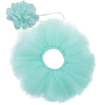 JT-Amigo Newborn Baby Girl Prop Outfits for Photography (Tutu Skirt + Flower Headband), Pink, 1-3 Months