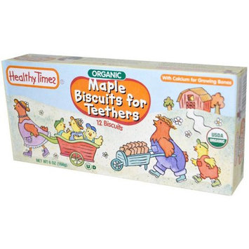 Healthy Times Organic Maple Biscuits for Teethers, 12 count, 6 oz