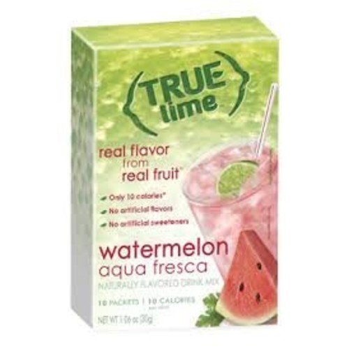 true citrus True Lime Watermelon Aqua Fresca 10 packets per box (4 boxes 40 total packets)