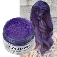 Aesy Silver Grey Hair Wax Hair Color ,Natural Matte Hairstyle Hair Dye Wax for Party, Cosplay