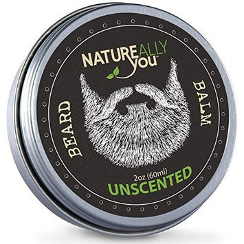 NATUREALLY YOU© - Beard Balm - Unscented - (2 oz) - Condition, Smooth, Soften, Tame, Remove Beard Itch