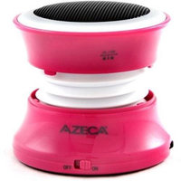 Azeca BT15S-HP Rechargable Bluetooth/Line-in Pop-Up Speaker Hot Pink