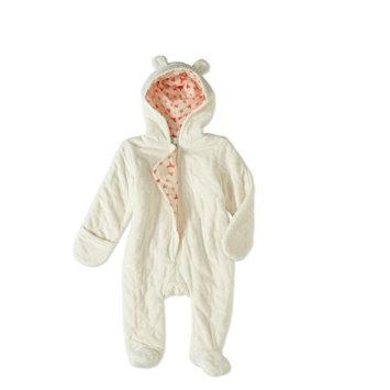 Quiltex Newborn Baby Boy or Girl Unisex Quilted Novelty Ear Snowsuit Pram