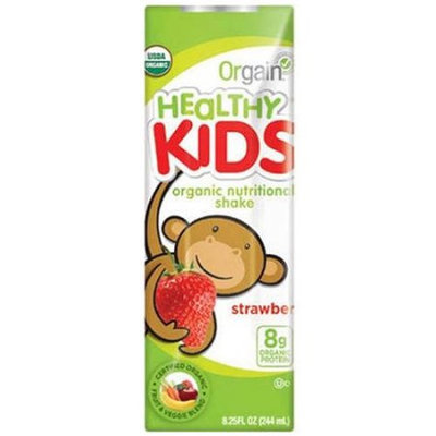 Orgain Healthy Kids Strawberry Organic Nutritional Shake, 8.25 fl oz