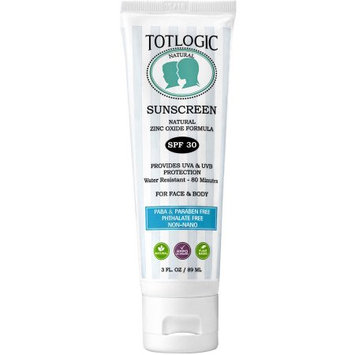 TotLogic Sunscreen - 30 - Unscented - 3 oz
