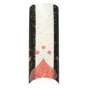 Cala Airbrushed Nail Tips Set Pink Heart & Dots 87787 + Aviva Nail File+ Nail Glue