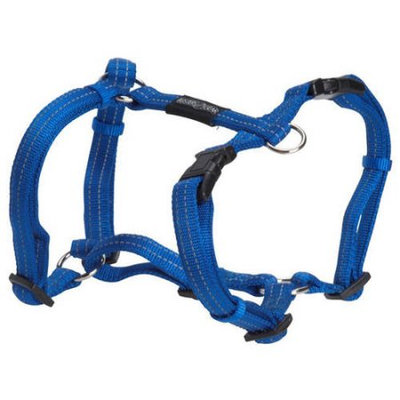 Kruuse Uk Buster Nylon H Harness Blue 15mm X 30-50mm