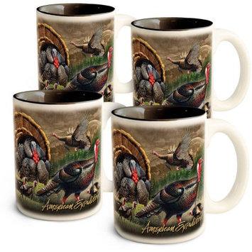 American Expedition Fishing Hole Coffee & Soup Mug Set-Bass - CM-SM-711