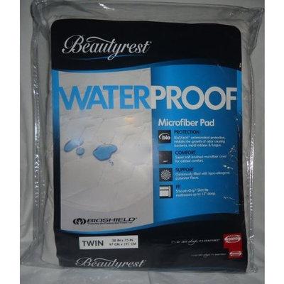 Simmons BEAUTYREST Bioshield WATERPROOF MICROFIBER Mattress Pad TWIN (38