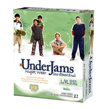 Pampers UnderJams Night Wear For Boys, Size L/XL (58-85 Lbs), 21-Count Packages (Pack of 3)