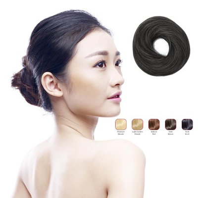 Buy 2 Hollywood Hair Classic Bun and get 1 Flat Braid Headband - Bold Black (Pack of 3)