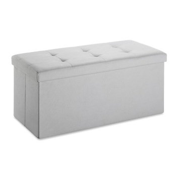 Whitmor Collapsible Storage Bench-Paloma Gray