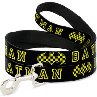 Dog Leash - BATMAN Checker Logo Black Yellow
