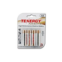 Tenergy 1.5V AA Alkaline Battery, High Performance AA Non-Rechargeable Batteries for Clocks, Remotes, Toys & Electronic Devices, Replacement AA Cell Batteries, 8-Pack