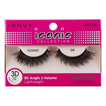 Kiss I Envy Iconic Collection Lashes #08 3D Angle & Volume (Glam) (2 Pack)