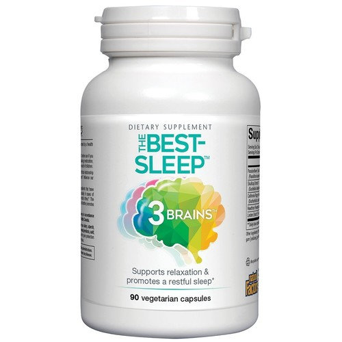 3 Brains The Best Sleep Natural Factors 90 VCaps