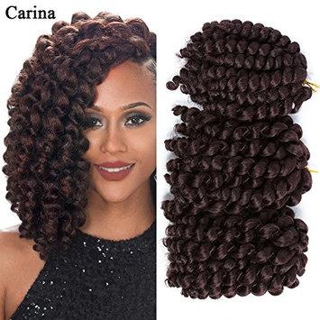 Carina Wand curl Crochet Hair (8inch 3pack) Jamaican Bounce Twist African Braiding Hair For Women. (8inch, 33#)