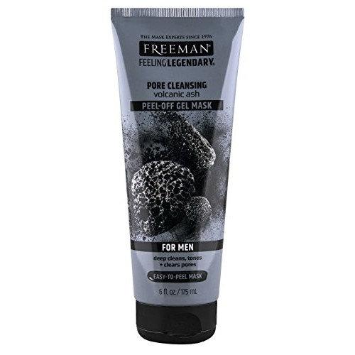 Freeman Mens Pore Cleansing Gel Mask Peel Off 6 Ounce (175ml) (2 Pack)