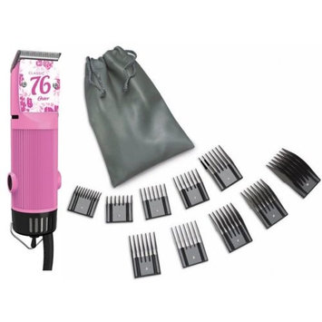 Oster Classic 76 Pink Flower + 10 PC Comb Set