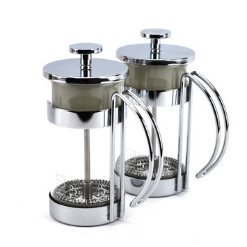 Coffee Press, Small Glass Pressed Milk Tea Maker Hot - 10oz (pack Of 2)