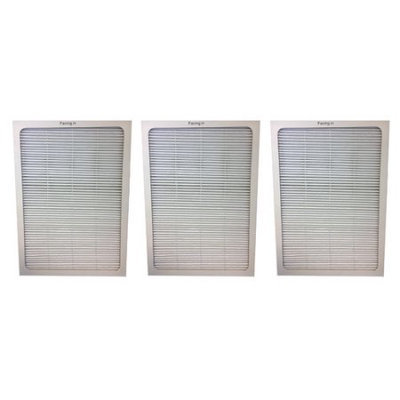 Crucial Air Set of 3 Deluxe 500/600 Series Blueair Air Purifier Filters with Built-In Odor Neutralizing Particle Pre-Filter; Fits Blueair 501, 503, 550E, 601, 603, 650E mod