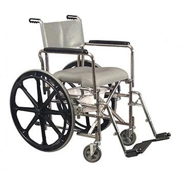 Pivit Cushioned Rehab Shower Commode & Wheelchair, 17 ¼