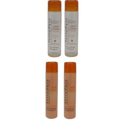Terra Pure Wild Citrus Shampoo and Conditioner Lot of 4 (2 of each) (Pack of 2)