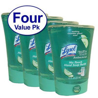 Lysol No-Touch Hand Soap Refill, Hydrating Cucumber & Watermelon, 8.5 Ounce (Pack of 4)