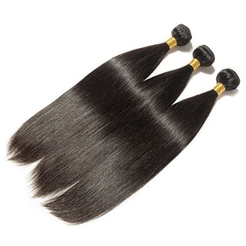 Black Hair Bundles Weft Unprocessed Brazilian Virgin Human Hair Weave Grade 7A Quality Brazilian Hair Extensions Weave Weft Thick Straight 20