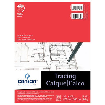 Canson C100510960 9 in. x 12 in. Tracing Paper Pad
