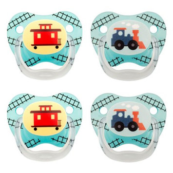 Handi-craft Company Dr. Brown's PreVent Classic Pacifier, Stage 2 (6-12m), Explore Blue, 4 Count