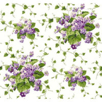 York Wallcoverings Waverly Cottage Sweet Violets 33' x 20.5'' Floral Wallpaper