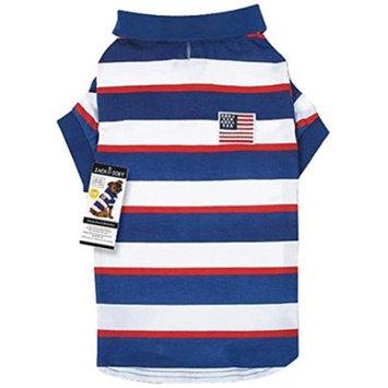Ikaria UM5784 16 SPF40 Patriotic Pooch Polo Shirt - Medium