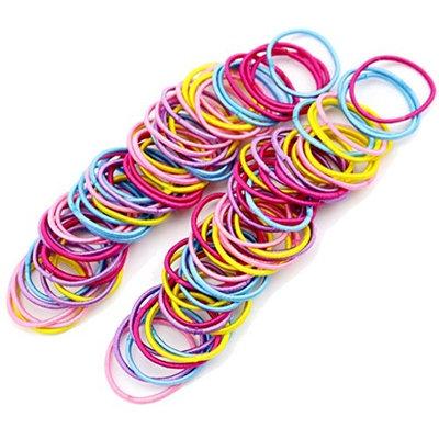 Freedi 100Pcs Elastic Hair Ties Rope Bands Ponytail Holders Baby Girls Accessories