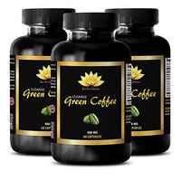 Cleanse support - NATURAL GREEN COFFEE BEAN EXTRACT CLEANSE 400 mg - Ginger - 3 Bottle 180 Capsules