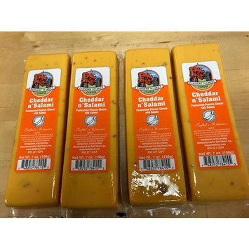 Farmers Market Cheddar & Salami Cheese Block 7oz (4 Blocks)