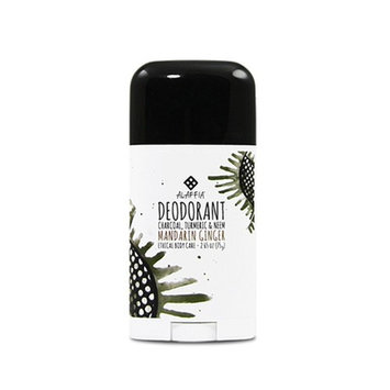 Alaffia - Neem Turmeric Activated Charcoal Deodorant, Odor Protection and Support from Shea Butter and Aloe Vera, Fair Trade, No Aluminum, No Parabens, Mandarin Ginger, 2.65 Ounces [Mandarin Ginger]