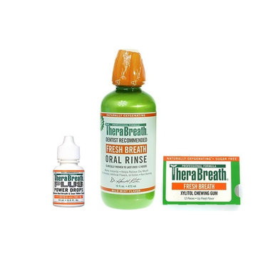 Therabreath Bad Breath Buster Kit - Power Drops, Oral Rinse, and Fresh Breath Gum