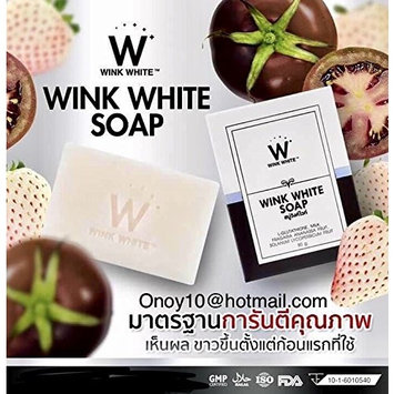 100% Authentic WINK WHITE SOAP new formula Skin Body Whitening can be very fast double white+++Thai, 1 Bar x 80g. by Madam A