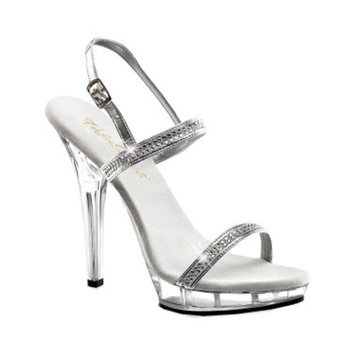 5 Inch Sexy High Heel Shoes Rhinestone Sandal Ankle Straps