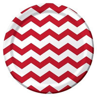 Classic Red Chevron and Dots 9
