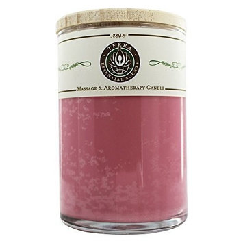 Terra Essential Scents - Massage & Aromatherapy Soy Candle Lavender Blossom - 12 oz. by Lavender Blossom