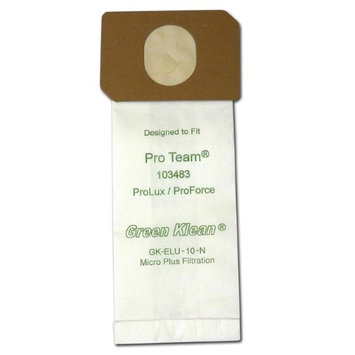 Green Klean Replacement Vacuum Cleaner Bags for Pro Team ProLux & ProForce