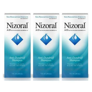 Nizoral A-D Ketoconazole Anti-Dandruff Shampoo, 7 Oz - 3 count