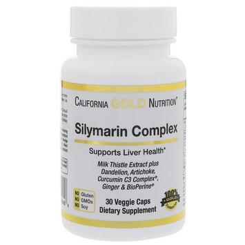 California Gold Nutrition, Silymarin Complex, Milk Thistle Extract Plus Artichoke & Dandelion with BioPerine, 300 mg, 30 Veggie Caps [Package Quantity : 30 Veggie Capsules]