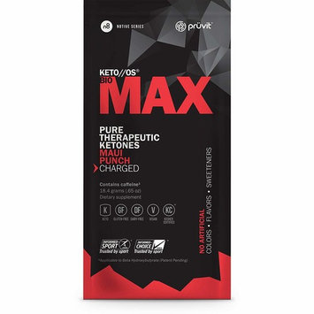Pruvit KETO//OS Bio MAX Pure Therapeutic Ketones Drink Mix 10 Packets Maui Punch Flavor Charged