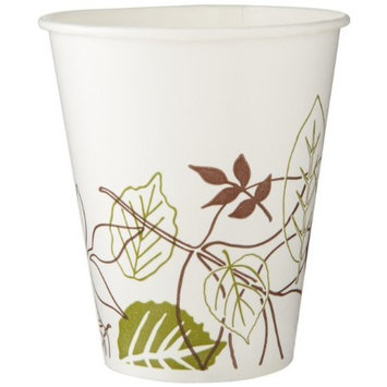Dixie 12FPWS Pathways WiseSize Flair Poly Paper Cold Cup, 12 oz Capacity (24 Sleeves of 50)