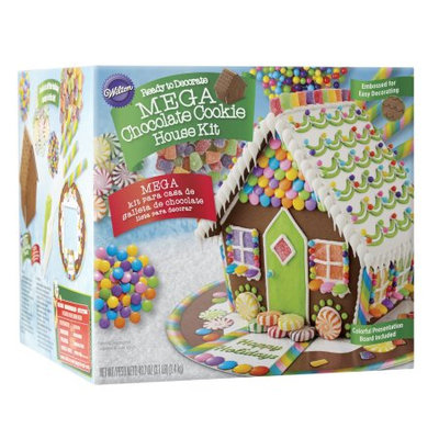 Wilton Ready-to-Decorate Mega Chocolate Cookie House Decorating Kit, Pre-Assembled
