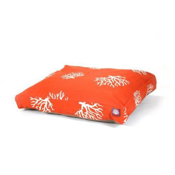 Majestic Home Goods Inc Majestic Home Goods Coral Rectangle Pet Bed Burnt Orange, Large