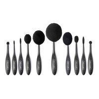 Vanity Planet Blend Party Oval Makeup Brush Set - Black
